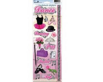 Scrapbook Stickers - Paper House Productions Dance Ballet Ballerina Recital Cardstock Sports & Activities Embellishments