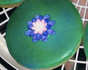 Lilly Pad decorated cookies