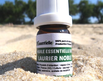 Bay essential oil, Laurus Nobilis, certified AB France, 100% pure and natural, anti viral, produced in London, France