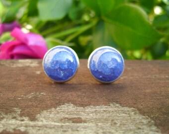 Earrings Silver/ice cubic Zirconia Blue
