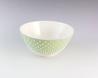 "Green Pastel ""Pearls"" Bowl"