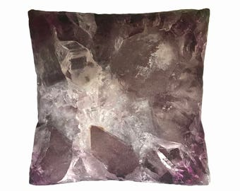 "Amethyst Crystal 16"" Accent Pillow"