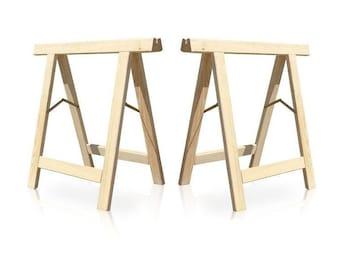 2 x Folding Wooden Trestle  (pair) UK Seller / UK made