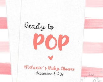 Ready to Pop, Favor Bags, Popcorn Bags, Wedding Candy Buffet, Candy Bags, Buffet Bags, Cookie Bags, Wedding Favors, RD57