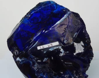 1pc dark blue andara crystal rough 1600 gr