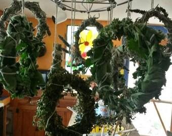 Variety herbal wreaths