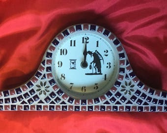 Mosaic mantel clock
