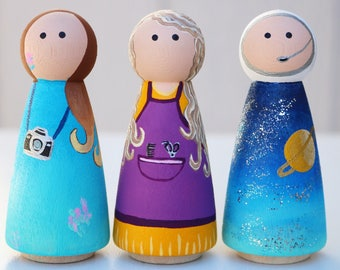 Astronaut peg doll