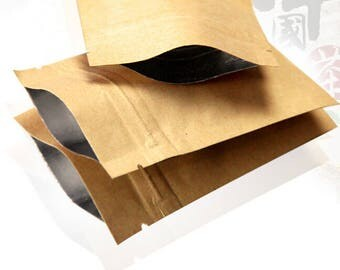 50pcs  3 big sizes kraft paper bag food packaging bags ,ziplock coffee sample package bags           17x24cm     18x30cm     20x30cm