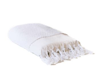 Free Shipping-20% Off Limited Time-  ORB Turkish Towel Set of 2 - Pure White