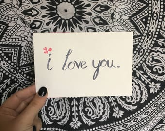 I Love You Postcard