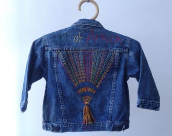 Custom, kids denim jacket, size 4t