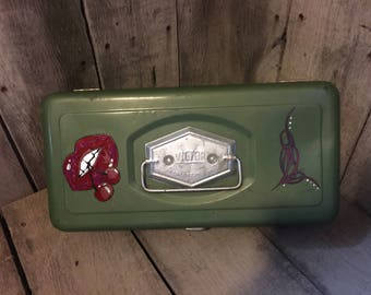 hand painted Victor tackle box