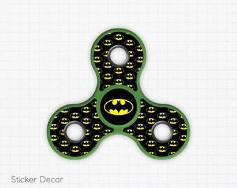 Batman, Fidget Spinner Sticker Decal, Fidget Toy, Hand Spinner, Stress Toy