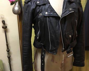 Biker black leather