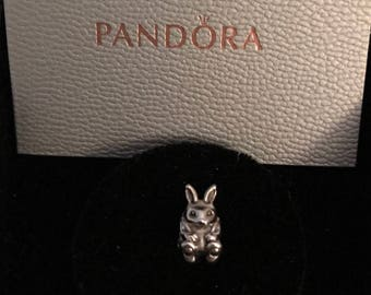 791121 - Easter Bunny Authentic Pandora Charm (RETIRED)