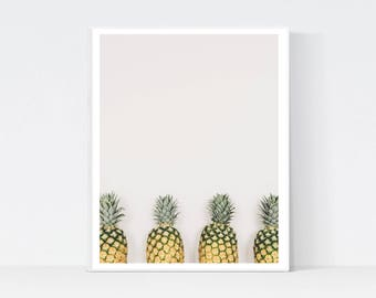 Pineapple Digital Print, Pineapple Art, Pineapple Photo, Tropical Print, Pineapple Printable, Tropical Digital Print, Pineapple Wall Art