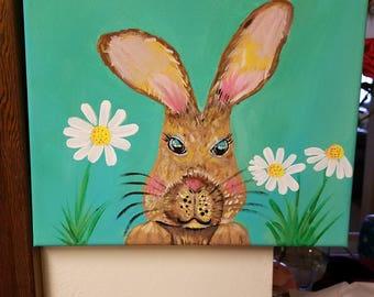 Acrylic Bunny Painting