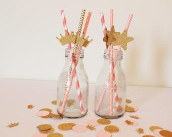 Princess Straws | Princess Party | Straws | Paper Straws | Party Supplies | Party Straws | Baby Shower | Party Decorations | Party Favours