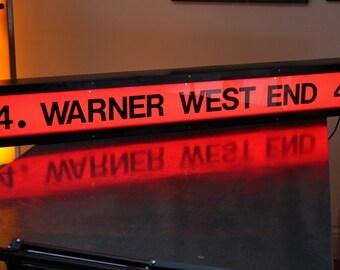 Illuminated Vintage Warner West End Sign - Screen 4
