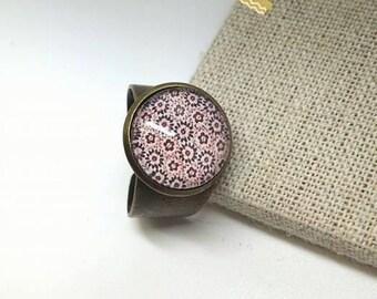 bronze flower ring