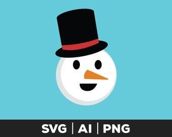 snowman face svg - snowman cut file, christmas svg, winter svg, snowman svg file, holiday svg, snow svg, frosty svg, snowman, snowman vector