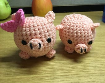 Little piggies crochet toys