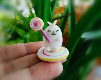 Cute Molang Figurine Table top decor, Disney Junior Molang Piu Piu figure, Kawaii Molang Miniature Figurines