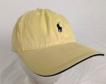 pale yellow polo ralph lauren strap back hat