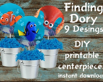 Finding Dory Centerpieces, Finding Dory Decorations, Finding Dory Birthday, Finding Dory Party, Finding Dory Party Supplies, Disney Dory