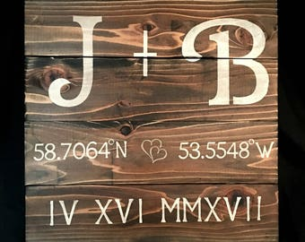 Custom Wood Signs / Personalized Wall Art / Custom Wall Art / Unique  Wedding Gift /