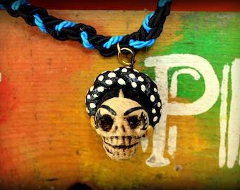 Necklace Catrina Día de los muertos.  Necklace Catrina day of the deads.