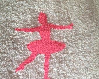 100% cotton Ballerina Hand Towel