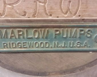 very rare cast iron sign