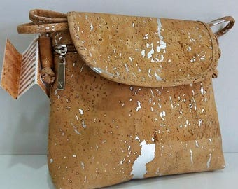 Cork Bag - Fine Cork Handbag - Cork Lady Purse - Eco-friendly Shoulder Bag