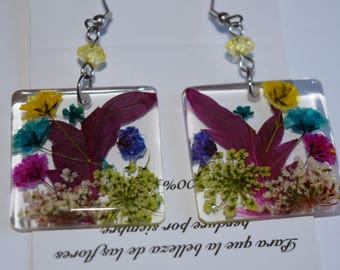 Natural Flower Earrings