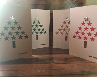 Star Christmas Tree Card/Christmas/Tree/Star/Christmas Card