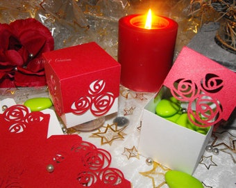"""Boxes for sweets """"Roses"""" (set of 10 or 50 to assemble)"""
