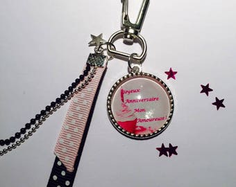 "Jewelry bag door key charms Cabochon glass Metal ""custom"""