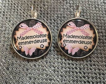 """""""Miss bitch"""" earrings"""