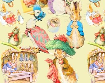 Fabric, Beatrix Potter Peter Rabbit
