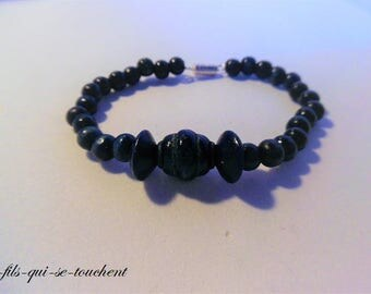 Blue wooden Beads Bracelet