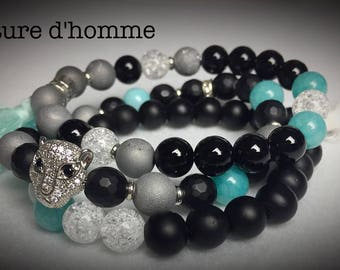 Women jewelry - a trio of bracelets natural stones women reference BN - 442