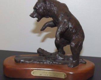 "Jack Bryant Bronze Sculpture ~ Bear ""No Happy"" #2122"