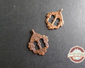 pendentif breloque charms berbère indien ethnique cuivré 26X35mm