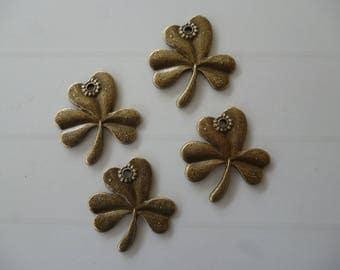 4 shape bronze bronze clover charms
