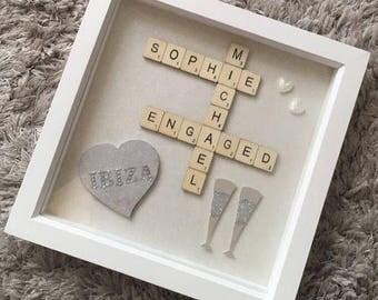 Engagement Scrabble Memory Frame - Keepsake - Engagement Present