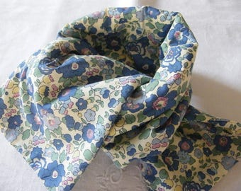 Fleece scarf LIBERTY Betsy blue/green 2/4/6/8/10/12 years