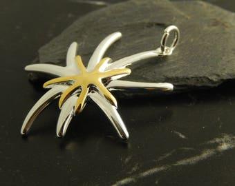 1 pendant Starfish gold / silver