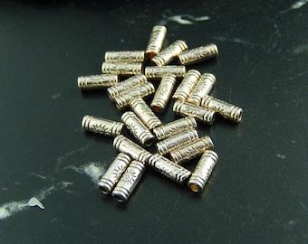 10 spacer beads Tibetan style tubes